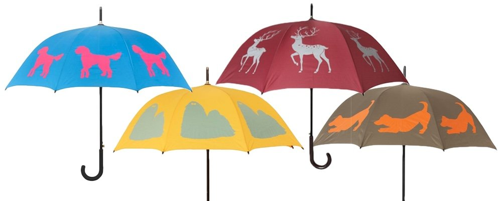 Colourful Silhouette Umbrellas