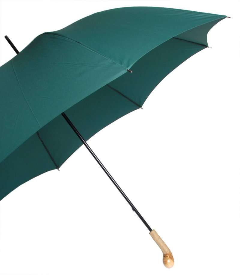 Racing Green Golf Umbrella with Wooden Knob Handle
