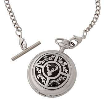Thistle Stag Pocket Watch