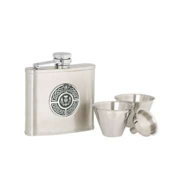 Celtic and Thistle Hipflask
